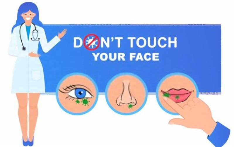 Avoid touching your nose
