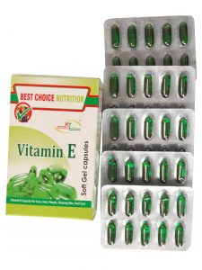 BestChoice Nutrition Pure Vitamin E Capsule for Face Hair Pimple Glowing Skin Nail Care for beautiful skin, healthy hair and eyes