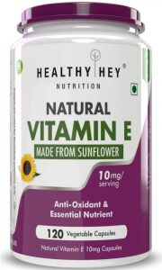 HealthyHey Nutrition Natural Vitamin E Tablets